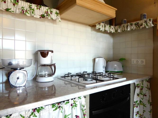 cucina con gas casa vacanze villa cerine